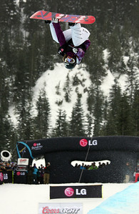 U.S. Snowboarding's Gretchen Bleiler competes in the finals of the 2009 LG Snowboard FIS World Cup at Cypress Mountain, BC. Images in this gallery may be used for editorial use only and photographer must be credited. Photo © FIS – Oliver Kraus