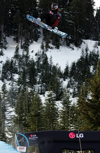 Shaun White competes in the qualification round of the 2009 LG Snowboard FIS World Cup at Cypress Mountain, BC. Images in this gallery may be used for editorial use only and photographer must be credited. Photo © FIS – Oliver Kraus