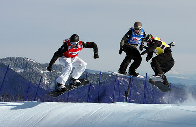 U.S. Snowboarding's Shaun Palmer competes in a preliminary heat of the 2009 LG Snowboard FIS World Cup at Cypress Mountain, BC. Images in this gallery may be used for editorial use only and photographer must be credited. Photo © FIS – Oliver Kraus