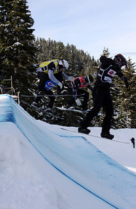 U.S. Snowboarding's Graham Watanabe competes in a preliminary heat of the 2009 LG Snowboard FIS World Cup at Cypress Mountain, BC. Images in this gallery may be used for editorial use only and photographer must be credited. Photo © FIS – Oliver Kraus