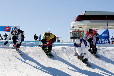 Jason Smith, Alex Deibold  U.S. Snowboarding Grand Prix at Boreal  Photo © Tom Zikas