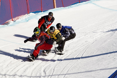 Nate Holland, Graham Watanabe, Nick Baumgartner, Seth Wescott  U.S. Snowboarding Grand Prix at Boreal  Photo © Tom Zikas
