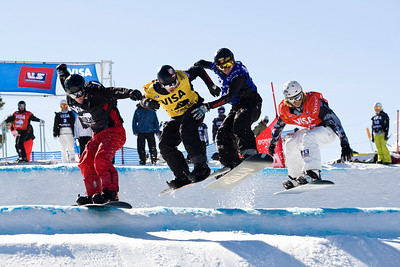 Jayson Hale, Bobby Minghini U.S. Snowboarding Grand Prix at Boreal  Photo © Tom Zikas