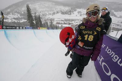 Gretchen Bleiler U.S. Snowboarding Grand Prix Copper Mountain, CO Dec. 12-13, 2008 Photo © Wendy Turner