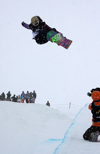 Gretchen Bleiler 2009 LG Snowboarding World Cup in Cardrona  Photo © Oliver Kraus  Image may be used for editorial use only