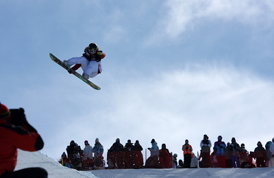 Jamie Anderson 2009 LG Snowboarding World Cup in Cardrona  Photo © Oliver Kraus  Image may be used for editorial use only