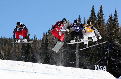 Robert Minghini and Seth Wescott 2009 LG Snowboarding World Cup in Telluride, Colorado Photo © Oliver Kraus Image may be used for editorial use only.
