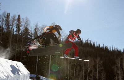 Ross Powers and Jayson Hale 2009 LG Snowboarding World Cup in Telluride, Colorado Photo © Oliver Kraus Image may be used for editorial use only.