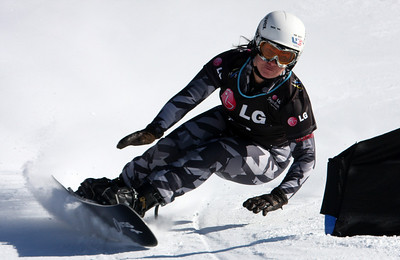 Michelle Gorgone 2009 LG Snowboarding World Cup in Telluride, Colorado Photo © Oliver Kraus Image may be used for editorial use only.