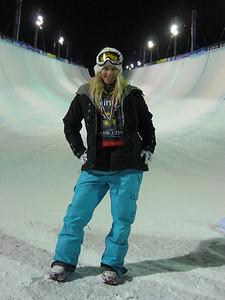 Hannah Teter at the Sprint U.S. Snowboarding Grand Prix at Park City Mountain Resort in Utah. Photo: Jen Desmond/U.S. Snowboarding