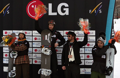 Graham Watanabe and Shaun Palmer 2010 LG Snowboarding World Cup in Stonham Photo © Oliver Kraus/FIS