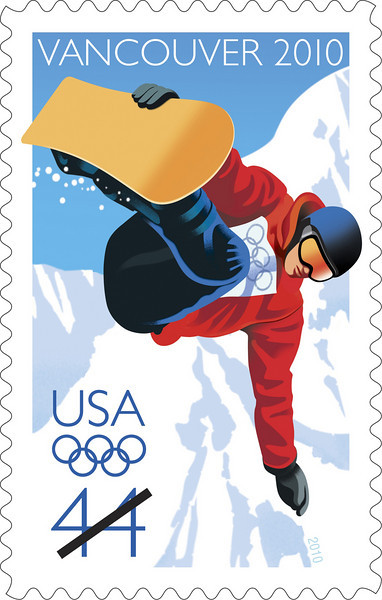 2010 Snowboarding Olympic Stamp