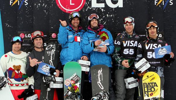 Podium Men, from left to right: 3rd Jason Hale (USA), Nick Baumgartner (USA), 1st Alberto Schiavon (ITA), Luca Matteotti (ITA), 2nd Alex Deibold (USA), Jonathan Cheever (USA)
