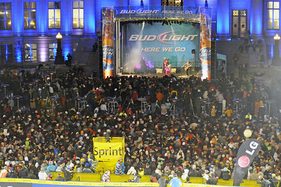 One Republic plays on the Bud Light Stage at the Denver Big Air presented by Sprint. January 26, 2011 Photo: Tom Kelly/U.S. Snowboarding