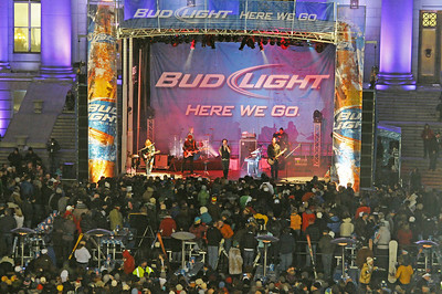 One Republic plays on the Bud Light Stage at the Denver Big Air presented by Sprint. January 26, 2011 Photo © Oliver Kraus/FIS Image may be used for editorial purposes only.