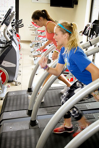 Faye Gulini of the U.S. Snowboarding Team works out at the Center of Excellence in Park City, Utah.