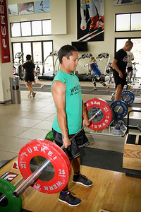 Graham Watanabe of the U.S. Snowboarding Team works out at the Center of Excellence in Park City. (USSA/ Marvin Kimble