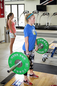 Faye Gulini of the U.S. Snowboarding Team works out at the Center of Excellence in Park City, Utah. (USSA/ Marvin Kimble)