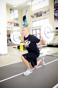 JJ Tomlinson works out at the Center of Excellence in Park City, Utah. (USSA/ Marvin Kimble)