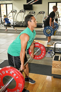 Graham Watanabe of the U.S. Snowboarding Team works out at the Center of Excellence in Park City, Utah.