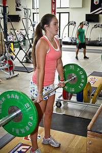 Brooke Shaw of the U.S. Snowboarding Team works out at the Center of Excellence in Park City, Utah. (USSA/ Marvin Kimble)