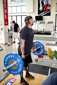 Shaun Palmer works out at the Center of Excellence in Park City, Utah. (USSA/ Marvin Kimble)