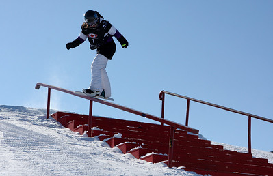Allyson Carroll (USA) competes in Slopestyle World Cup at COP, Calgary, Canada © Oliver Kraus/FIS  Image may be used for editorial use only.