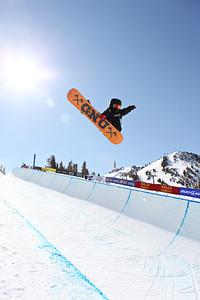 2012 Sprint U.S. Snowboarding Grand Prix at Mammoth Snowboard Halfpipe Finals Trevor Jacob Photo: Sarah Brunson/U.S. Snowboarding