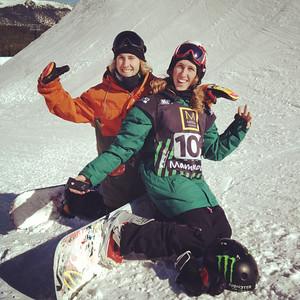 Sage Kotsenburg and Eric Willett before the 2012 Sprint U.S. Snowboarding Grand Prix at Mammoth Mountain. Instagram Photo: Sarah Brunson/U.S. Snowboarding