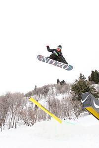 2012 Dew Tour Snowbasin  Snowboard Slopestyle Semi-Final Sage Kotsenburg Photo: Sarah Brunson/U.S. Snowboarding
