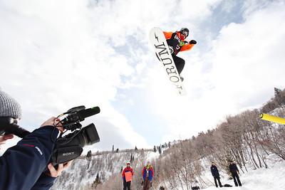 2012 Dew Tour Snowbasin  Snowboard Slopestyle Semi-Finals Ian Thorley Photo: Sarah Brunson/U.S. Snowboarding