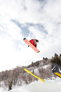 2012 Dew Tour Snowbasin  Snowboard Slopestyle Semi-Final Dash Kamp Photo: Sarah Brunson/U.S. Snowboarding