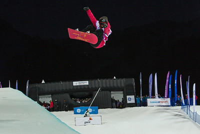 Ellery Hollingsworth Halfpipe snowboarding Olympic Test Event, Sochi, Russia February 2013 Photo: Mark Epstein/U.S. Snowboarding
