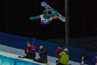 Halfpipe snowboarding Olympic Test Event, Sochi, Russia February 2013 Photo: Mark Epstein/U.S. Snowboarding