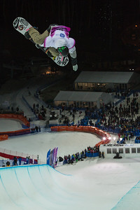 Scotty Lego Halfpipe snowboarding Olympic Test Event, Sochi, Russia February 2013 Photo: Mark Epstein/U.S. Snowboarding