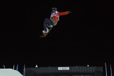 Sophie Rodriguez (FRA) Halfpipe snowboarding Olympic Test Event, Sochi, Russia February 2013 Photo: Mark Epstein/U.S. Snowboarding