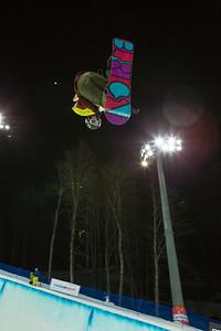Kelly Clark Halfpipe snowboarding Olympic Test Event, Sochi, Russia February 2013 Photo: Mark Epstein/U.S. Snowboarding