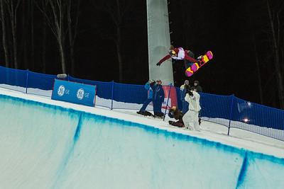 Arielle Gold Halfpipe snowboarding Olympic Test Event, Sochi, Russia February 2013 Photo: Mark Epstein/U.S. Snowboarding