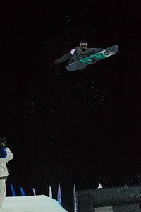 Greg Bretz Halfpipe snowboarding Olympic Test Event, Sochi, Russia February 2013 Photo: Mark Epstein/U.S. Snowboarding