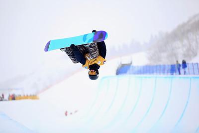 Joe Hills Halfpipe qualifications 2013 Sprint U.S. Snowboarding Grand Prix in Park City, Utah Photo: Sarah Brunson/U.S. Snowboarding