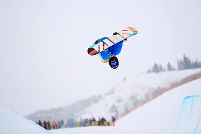 Benji Farrow Halfpipe qualifications 2013 Sprint U.S. Snowboarding Grand Prix in Park City, Utah Photo: Sarah Brunson/U.S. Snowboarding