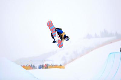 Taylor Gold Halfpipe qualifications 2013 Sprint U.S. Snowboarding Grand Prix in Park City, Utah Photo: Sarah Brunson/U.S. Snowboarding