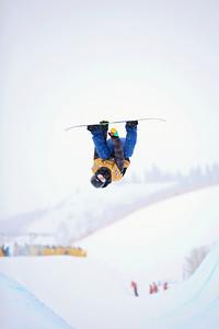 Yiwei Zhang Halfpipe qualifications 2013 Sprint U.S. Snowboarding Grand Prix in Park City, Utah Photo: Sarah Brunson/U.S. Snowboarding