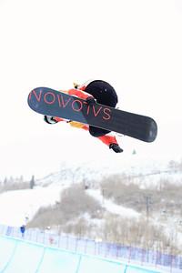 Halfpipe qualifications 2013 Sprint U.S. Snowboarding Grand Prix in Park City, Utah Photo: Sarah Brunson/U.S. Snowboarding