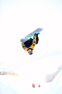 Greg Bretz Halfpipe qualifications 2013 Sprint U.S. Snowboarding Grand Prix in Park City, Utah Photo: Sarah Brunson/U.S. Snowboarding