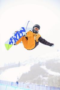 Wancheng Shi Halfpipe qualifications 2013 Sprint U.S. Snowboarding Grand Prix in Park City, Utah Photo: Sarah Brunson/U.S. Snowboarding