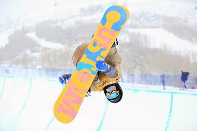 Tyler Anderson Halfpipe qualifications 2013 Sprint U.S. Snowboarding Grand Prix in Park City, Utah Photo: Sarah Brunson/U.S. Snowboarding