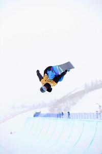 Paul Brichta Halfpipe qualifications 2013 Sprint U.S. Snowboarding Grand Prix in Park City, Utah Photo: Sarah Brunson/U.S. Snowboarding