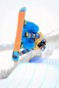 Jan Kralj Halfpipe qualifications 2013 Sprint U.S. Snowboarding Grand Prix in Park City, Utah Photo: Sarah Brunson/U.S. Snowboarding
