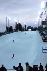 Women's Snowboarding halfpipe training 2013 X-Games in Aspen, Colorado Photo: Lauren Loberg/USSA